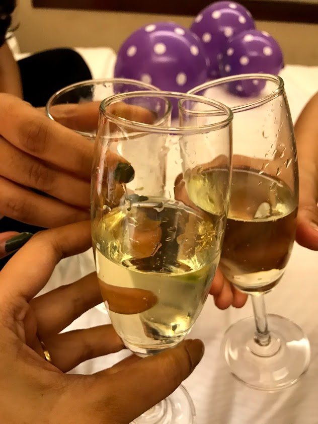 Champagne at Radisson Blu Palace hotel udaipur